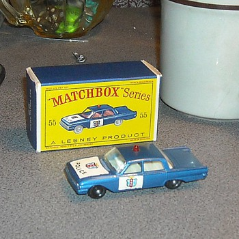 Matchbox 55b Ford Fairlane Police Patrol Car 1964 - Model Cars