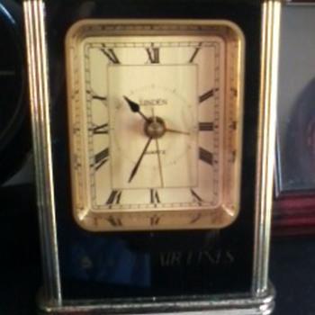 Linden Desk/alarm Clock w/Delta Airlines memorabilia