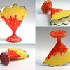Welz Scallop Fan Vase Group