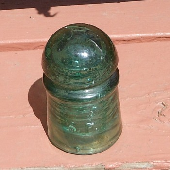 S.F. CD 102 Insulator Bluish Green Pony Circa 1890s - Tools and Hardware