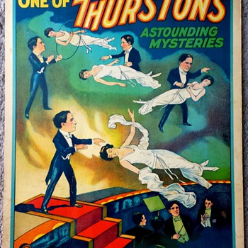 Original 1935 Thurston Stone Lithograph Window Card - Posters and Prints