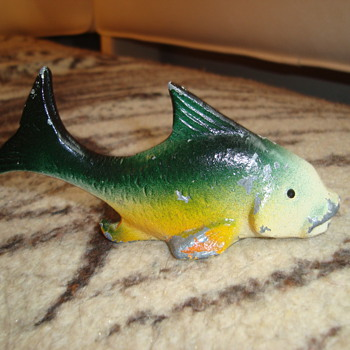1940s Cast Iron Figural Fish Bottle Opener