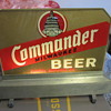 Capital Milwaukee Brewery Commander back bar reverse glass light by everbrite