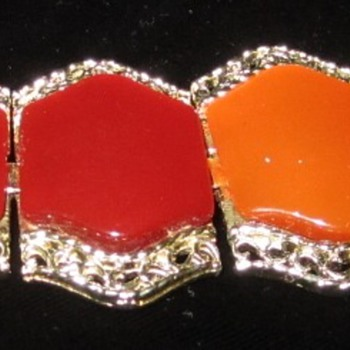 Old Coro Lucite Bracelet - Costume Jewelry