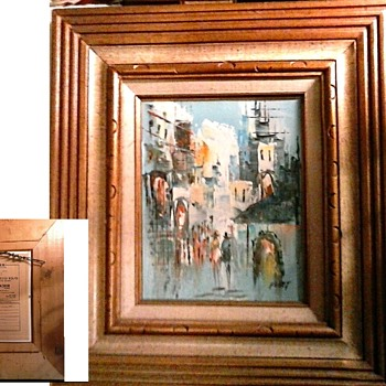 Three Small Mid-Century Artworks / Signed Oils and Watercolor/ Circa 20th Century