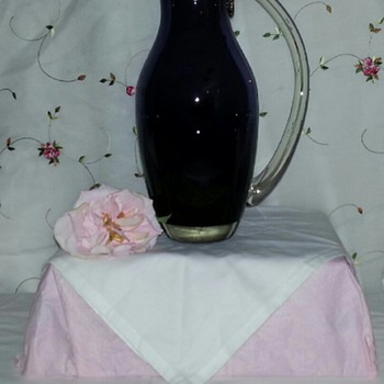 Gorgeous Purple Pitcher - Art Glass
