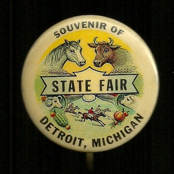 Souvenir of the Michigan State Fair Pinback Button