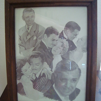 Clark Gable and the ladies - Posters and Prints
