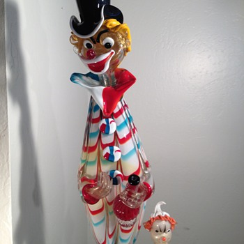 Giant Murano Glass Drunken Clown. - Art Glass