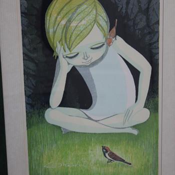 Shuzo Ikeda Woodblock Painting