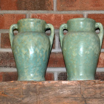 Pair of Burley Winter Vases - Art Pottery