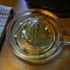Yellow Depression Glass Juicer