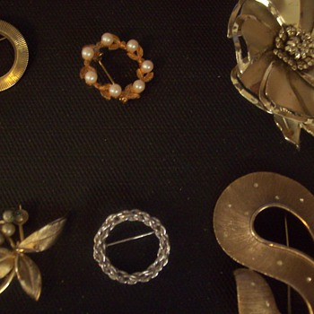 Some of my pins I have collected - Costume Jewelry