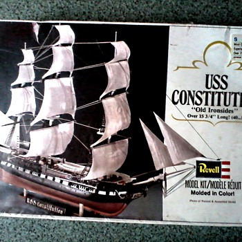 "Revelle Ship Model Kit #5404 /U.S.S. Constitution ""Old Ironsides"" NOS/Circa 1979"