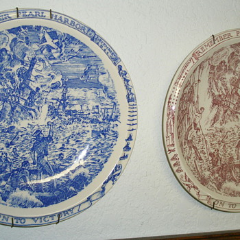 Two Plates From The Vernon Kilns - China and Dinnerware