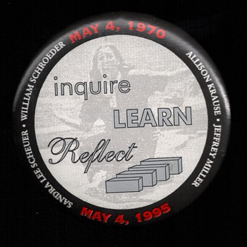 REMEMBER Kent State shooting pinback button