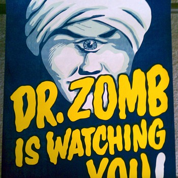 """Dr. Zomb"" Original Magic Poster"