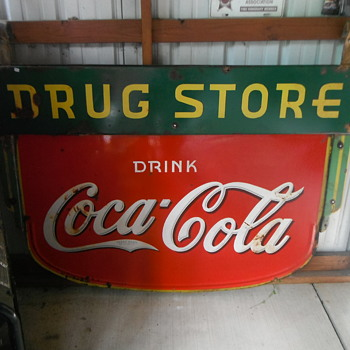 1935 Coca-Cola DRUG STORE Sign - Coca-Cola