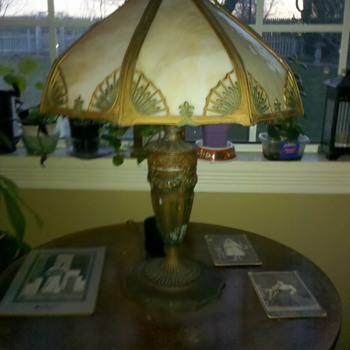 Tiffany style lamp picked in Vermont...