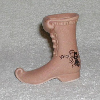 Ceramic Mini-Boot mug - Restaurant/bar - Brazil - Art Pottery