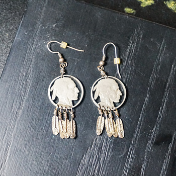 Native American Indian Head Earrings