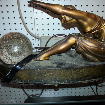Diving flapper radio lamp - Art Deco