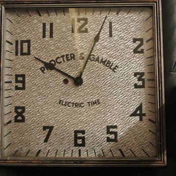 1930's Procter & Gamble Electric Wall Clock - Kodel Electric & Mfg. Co.