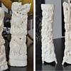 Bone carved statues