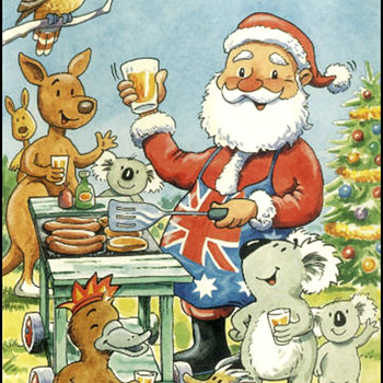 CHRISTMAS GREETINGS TO ALL FORM DOWN UNDER OZZIE CARDS - Christmas