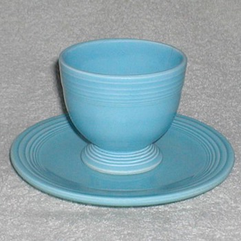 Fiestaware Egg Cup with saucer - China and Dinnerware