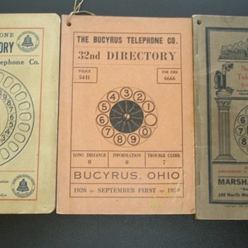 Early Automatic Telephone Exchange Directories