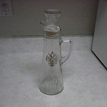 DECANTER WITH RUSSIAN EMBLEM - Glassware