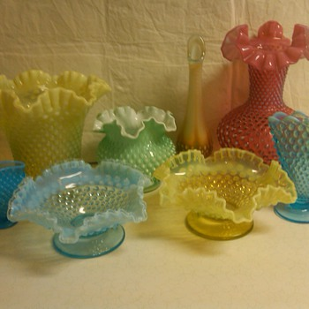 more fenton hobnail items from my collection - Glassware