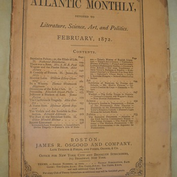 The Atlantic Monthly - February, 1872