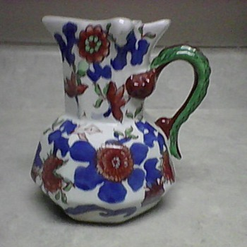 IRONSTONE PITCHER - Art Pottery
