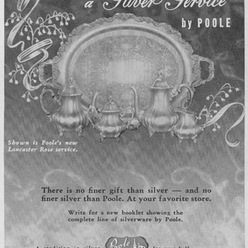 1950 Poole Silver Advertisements