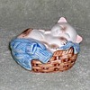 "1983 - AVON ""Kitten in a Basket"" Figurine"