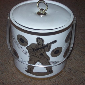 1988 elvis presley ice bucket - Music