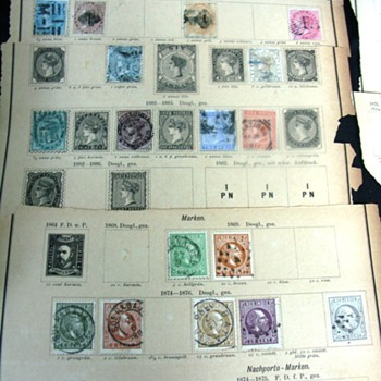 Antique world stamp collection