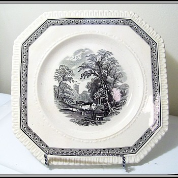 Antique GEORGE JONES Sons - Crescent China plate