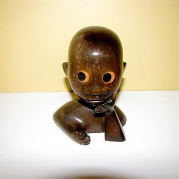 Rare Hagenauer African Childs Head - Figurines