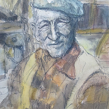 Pablo Ruiz Picasso ink/watercolor - Visual Art