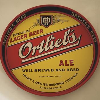 Vintage Ortlieb Beer Tray