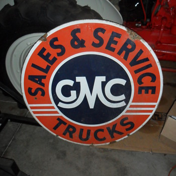 GMC Sales & Service sign (double sided) - Signs