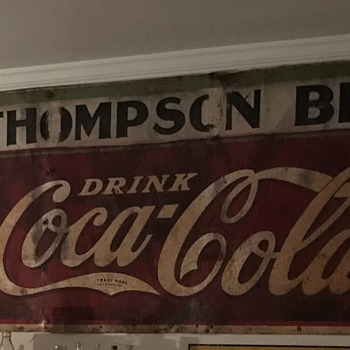 Antique Coca Cola sign - Coca-Cola