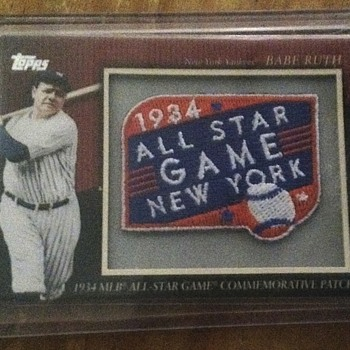 Babe Ruth Commemorative Patch Card - Baseball