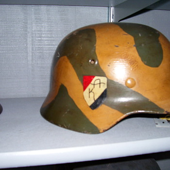 WWII German Helmet - Military and Wartime