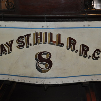 1873 Clay Street Hill Railroad Car No. 8 - Railroadiana
