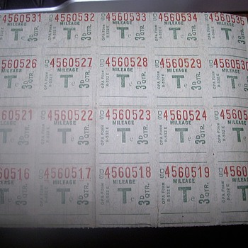 RATION STAMPS? - Stamps