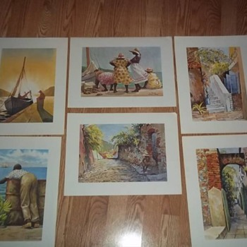 6 Prints From L. Gluck, Gari Melchers , Homer Winslow and Paul Cezanne